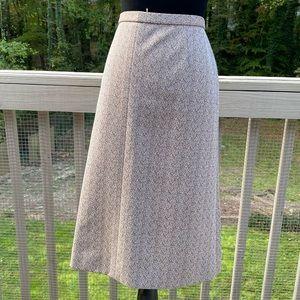 Vintage 70s Speckled Highwaist Aline Skirt